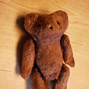 Tiny Jointed Teddy Bear - Cocoa Color