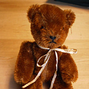 Brown Mohair Jointed Teddy Bear - Steiff