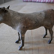 Putz Cow - Composition w/Wood Stick Legs - VG Cond.