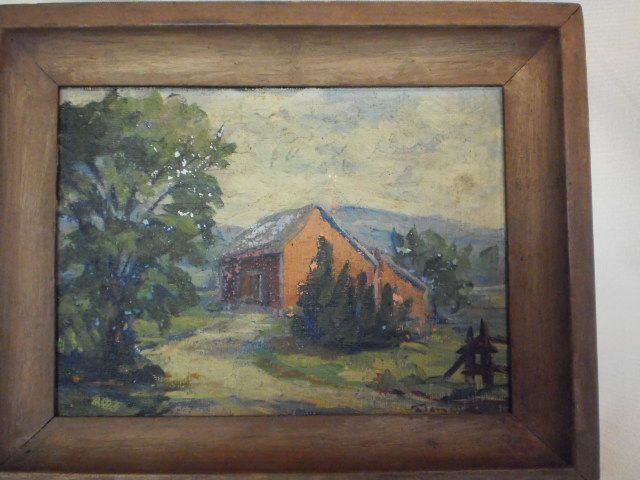 Miniature Oil Painting - F.Elgar New York - Ca. 1930's