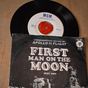 First Man on the Moon - Apollo 11 Flight - 45 rpm Record - July 1969