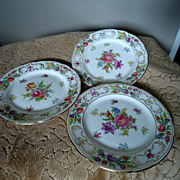 Hammersley Dresden Sprays Bread & Butter Plates