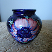 Moorcroft Anemone Squat Vase