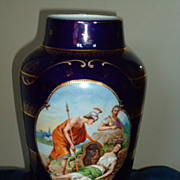 Large Royal Vienna Hand Painted Vase