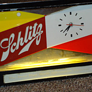 Vintage 1950's Schlitz Light-Up Clock
