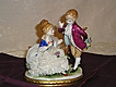 Unterweissbach VEB Laced Porcelain Courting Couple Figurine