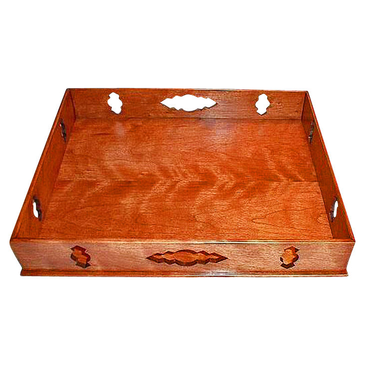 Free Shipping!  Artisan Early American Style Curly Cherry Tray