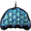 Free Shipping!  Jellyfish Dichroic Fused Glass Pendant Component w/ Bail � Ready to String