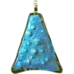 Free Shipping!  Shark Skin Dichroic Fused Glass Pendant Component w/ Bail � Ready to String