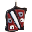 Free Shipping!  Surrealist Art Fused Glass Pendant Component w/ Bail � Ready to String