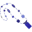 Free Shipping!  Two-Tone Blues in a Charming Necklace w/ Our Own Lampworked Beads