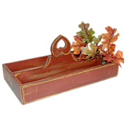 SALE 20% Off/Free Shipping!  Artisan Knife Caddy, China Red Milk Paint