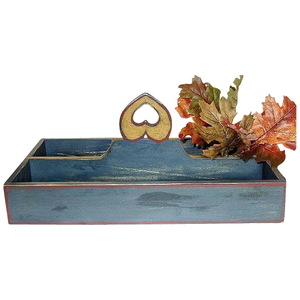 20% Off/Free Shipping!  Artisan Crafted Knife Caddy, Soldier Blue Milk Paint