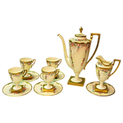 SALE 20% Off! Hand Painted Lenox Belleek 11 Piece Coffee Set