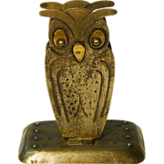 SALE 15% Off/Free Shipping! Goberg Hand Hammered Jugendstil Owl Match Box Holder, Germany