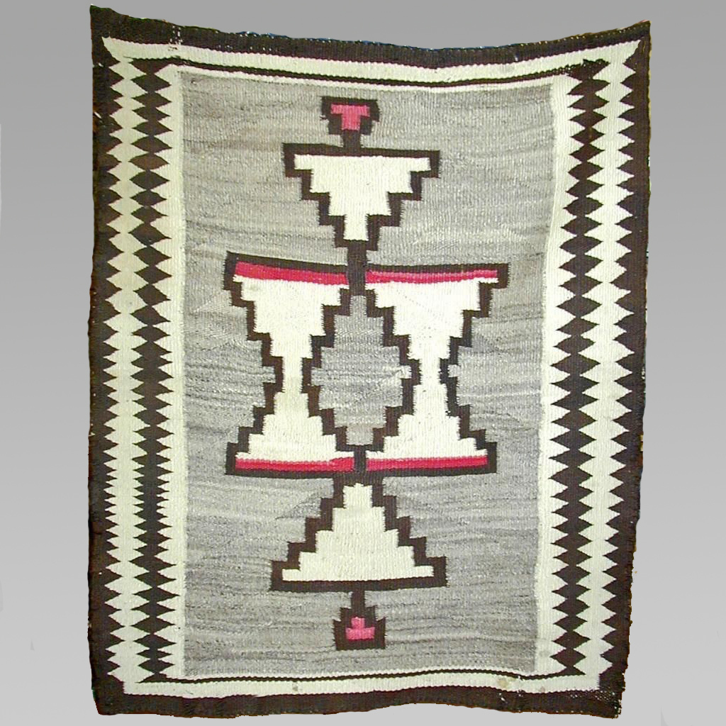 FREE SHIPPING! Regional Navajo Rug, 1910's, Superb Graphics