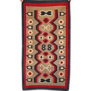 SALE 30% Off/FREE SHIPPING! Western Reservation Navajo Weaving / Navajo Rug, Ca. 1910