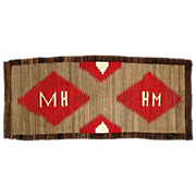 FREE SHIPPING! Pictorial Initialed �MH� Navajo Runner