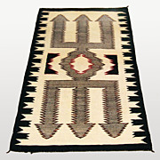 SALE 20% Off/FREE SHIPPING! Trident Pattern Red Mesa Navajo Rug