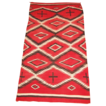 Very Large, Spectacular Navajo Transitional Weaving w/Hand-spun Wool, ca. 1900