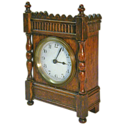 SALE Now 35% Off! 1920's French 30-Hour Oak Desk / Shelf Clock