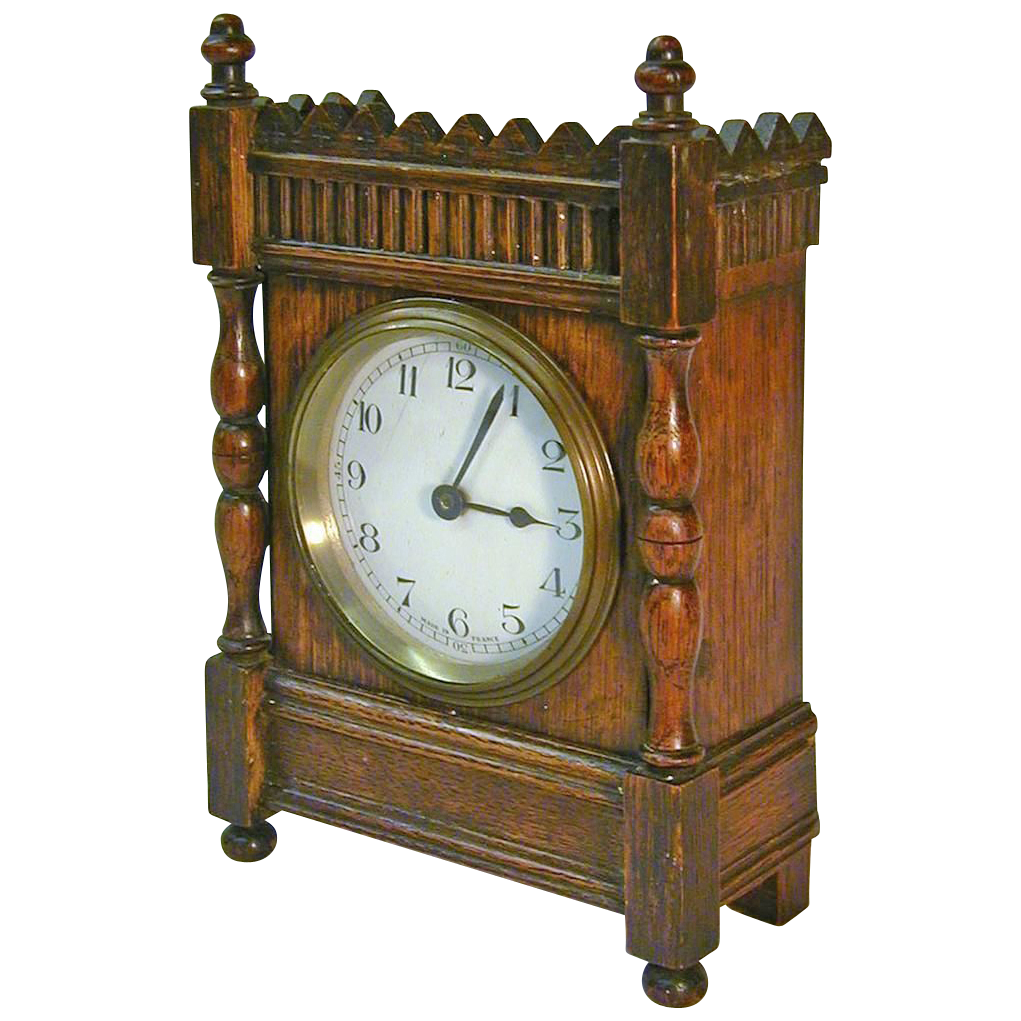 Now 35% Off! 1920's French 30-Hour Oak Desk / Shelf Clock