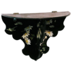 25% Off! Japanned Papier Mache Floral Decorated Folding Single Shelf, Victorian Era