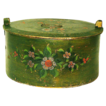Free Shipping! Museum Quality Large Paint Decorated Norwegian Tina, Third Quarter 19th Century