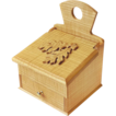 20% Off/Free Shipping!  Hand Made Curly White Ash Salt Box, Wall Box, w/Drawer, Carved Leaf Design