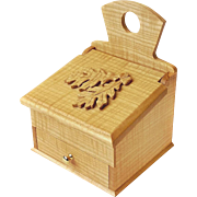 SALE 20% Off/Free Shipping!  Hand Made Curly White Ash Salt Box, Wall Box, w ...