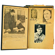 SALE Clearance 50% Off! Large Scrap Book of the Early Career of Hall of Fame Pitcher, Bob Fell