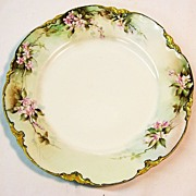 Hand Painted Primrose Decorative Haviland Plate, Gilt Edging