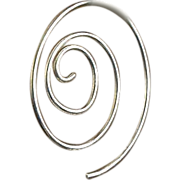 Sterling Silver Spiral classic hoop Hand forged earrings