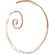 SALE Copper Hoop earrings 1-3/4 inch spiral coil forged hammered Camp Sundance