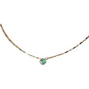 Caribbean Apatite blue solitaire necklace golden Camp Sundance design