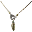 Green Amethyst toggle necklace Prasiolite marquis briolette Silver Camp Sundance