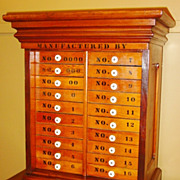 GREAT 20 drawer cabinet stenciled Knickerbocker