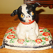 FIDO antique cast iron dog door stop