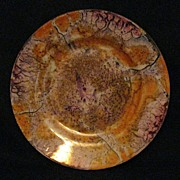 Vintage Czech Plate with Marbleized Glaze - 2 Available