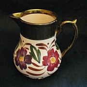 REDUCED Wade Heath Copper Luster Pitcher with Bold Florals