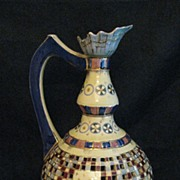 Fisher Ewer with Pierced Mosaic Motif and Children Playing