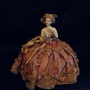 REDUCED Breathtaking Half Doll - Arms Away with Original Hair and Skirt