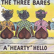 Vintage Black Americana Comic Postcard - The Three Bares