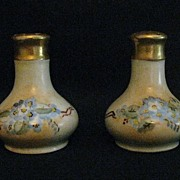 Vintage Hand Painted Salt and Pepper Shakers with Violets
