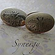 Art Nouveau Embossed Cufflinks Standard Button Co.
