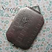 Sterling Rectangular Locket With M E D Monogram