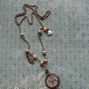Vintage Artisan Faith Necklace Of Our Lady Of Perpetual Help