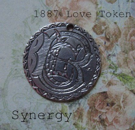 Victorian Love Token On1887 Seated Liberty Dime With CLB Monogram