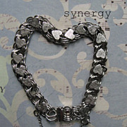 Sterling Jacoby Bender Heart Charm Bracelet With Triple Links