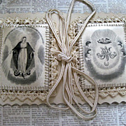 SALE PENDING French D�tente Scapular Of Blessed Virgin Mary